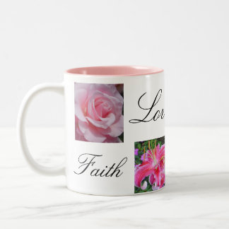 Faith Love Joy Hope Two-Tone Coffee Mug