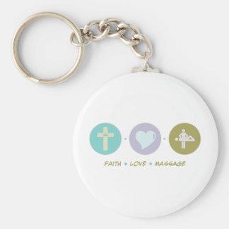 Faith Love Massage Keychain