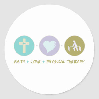 Faith Love Physical Therapy Round Sticker