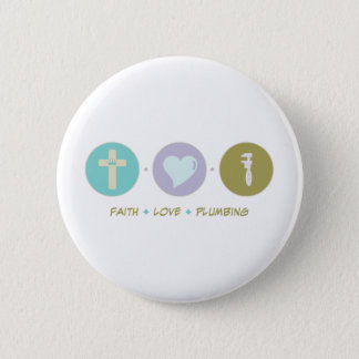 Faith Love Plumbing 2 Inch Round Button