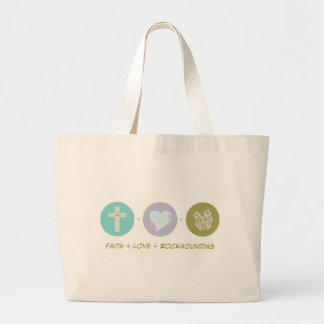 Faith Love Rockhounding Large Tote Bag