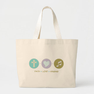 Faith Love Singing Jumbo Tote Bag