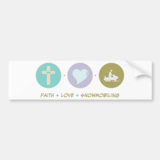 Faith Love Snowmobiling Bumper Sticker