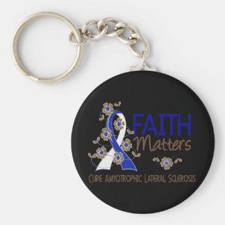 Faith Matters 3 ALS Basic Round Button Keychain