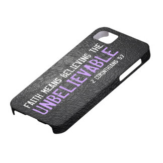 Faith means believing bible verse 2 Cor. 5:7 iPhone 5 Case