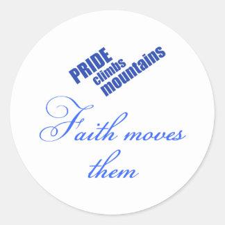 faith-moves-mountains Christian design Round Sticker