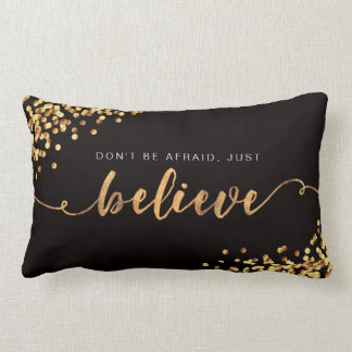 Faith Moves Mountains/Just Believe Golden Pillow