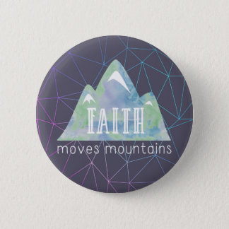 Faith Moves Mountains Purple Angles 2 Inch Round Button