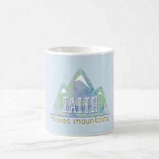 Faith Moves Mountains Watercolor Coffee Mug