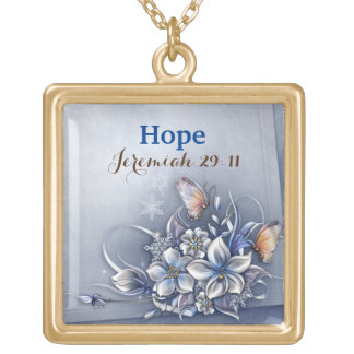 Faith- necklace featuring a polished gold finish