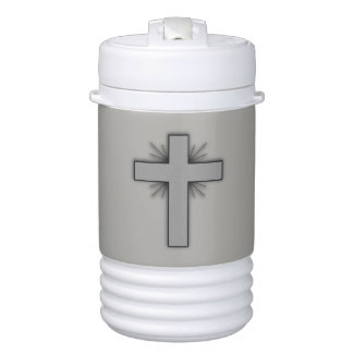 Faith Never Beverage Cooler w/Grey Flared Cross