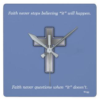 Faith Never Clock w/Blue Cross