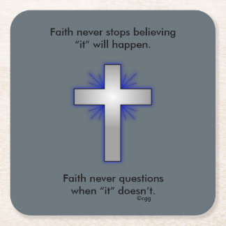Faith Never Coasters w/Blue Flared cross