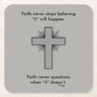 Faith Never Coasters w/Gray Flared cross