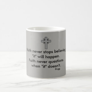 Faith Never Coffee Mug w/Grey Flared Cross
