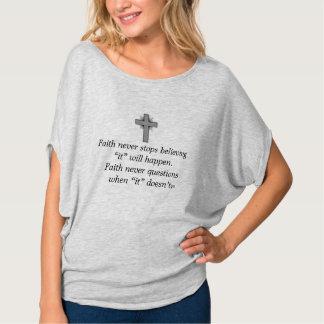 Faith Never Heather Top w/Grey Flared Cross