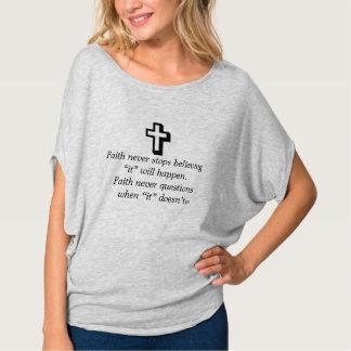 Faith Never Heather Top w/Shadow Cross