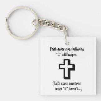 Faith Never Keychain w/Shadow Cross