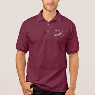 Faith Never Male Polo Shirt w/Black Solid Cross