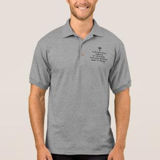 Faith Never Male Polo Shirt w/Grey Flared Cross