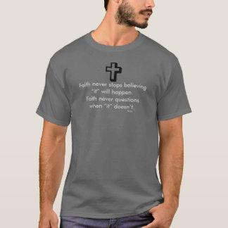 Faith Never Male Short Sleeve Shadow Cross T-Shirt