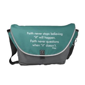 Faith Never Messenger Bag w/Black Outline Cross