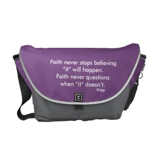 Faith Never Messenger Bag w/Black Solid Cross