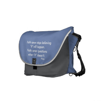 Faith Never Messenger Bag w/Blue Cross