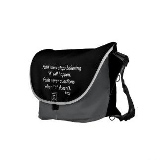 Faith Never Messenger Bag w/Feather Cross