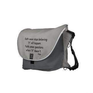 Faith Never Messenger Bag w/Gray Flared Cross