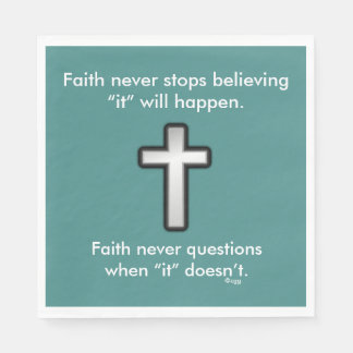 Faith Never Napkins w/Black Outline Cross Paper Napkins