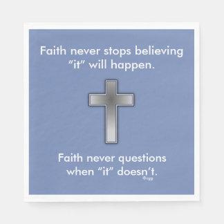 Faith Never Napkins w/Blue Cross