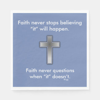 Faith Never Napkins w/Blue Cross Paper Napkins