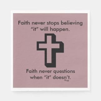 Faith Never Napkins w/Shadow Cross