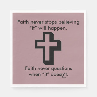 Faith Never Napkins w/Shadow Cross Disposable Napkin