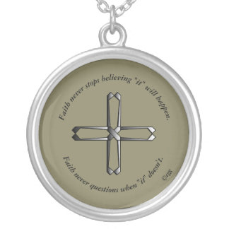 Faith Never Necklace w/Steel Cross