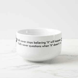 Faith Never Soup Mug w/Shadow Cross