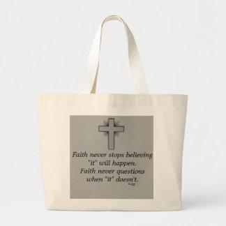 Faith Never Tote w/Grey Flared Cross