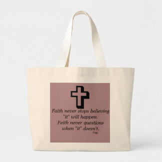 Faith Never Tote w/Shadow Cross