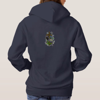 Faith Never Women's Hoodie w/Blue Flower Cross