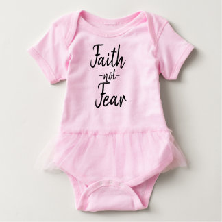 Faith not Fear Baby tutu shirt