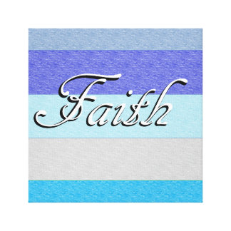 FAITH on Blue Canvas Print