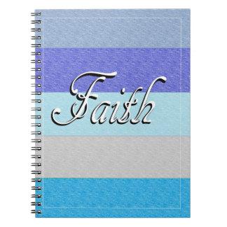 Faith on Blue Notebook