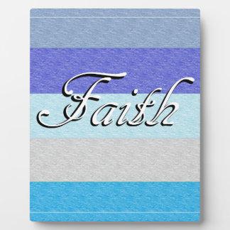 Faith on Blue Plaque