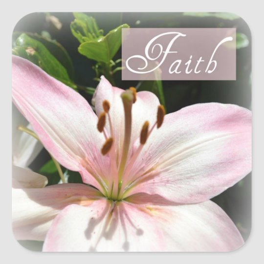 Faith Pink Lily Stickers