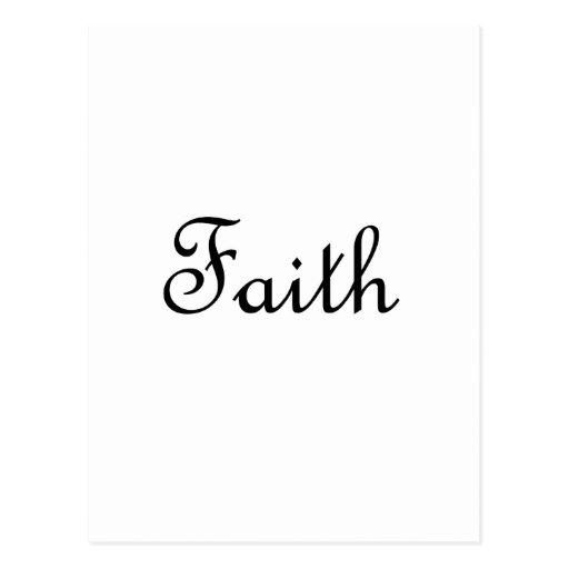 Faith Post Cards
