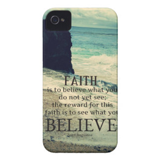 Faith quote beach ocean wave Case-Mate iPhone 4 case
