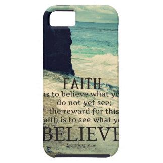Faith quote beach ocean wave iPhone 5 case