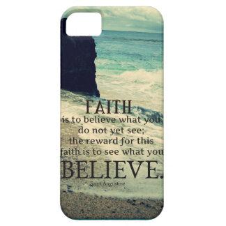 Faith quote beach ocean wave iPhone 5 cover
