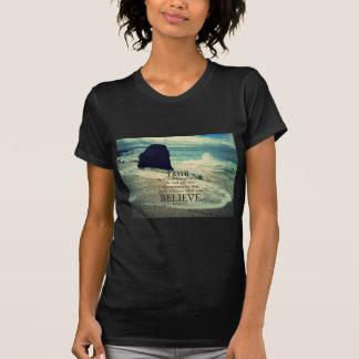 Faith quote beach ocean wave T-Shirt